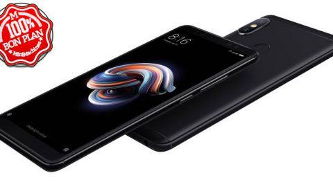 Smartphone Xiaomi Redmi Note 5 3/32Go noir