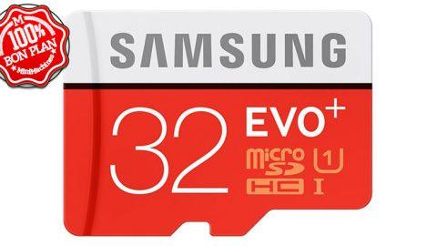 Carte mémoire MicroSDXC Samsung 32 Go Evo+