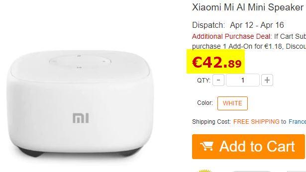 Enceinte Bluetooth Xiaomi Mi A1 Mini