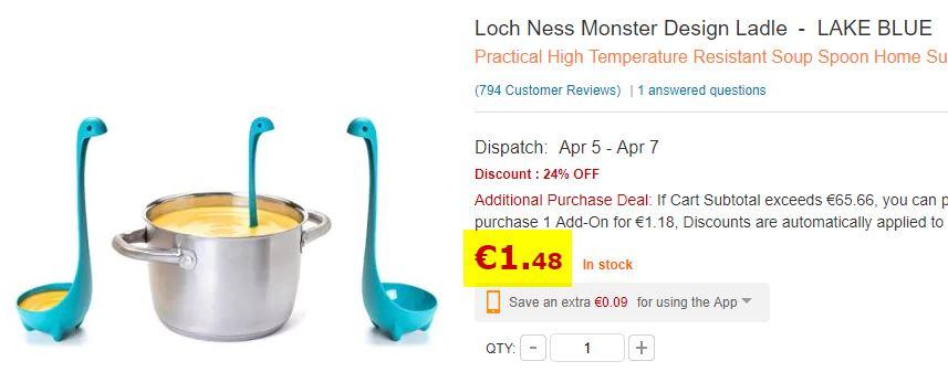 Louche Monstre du Loch Ness bleu