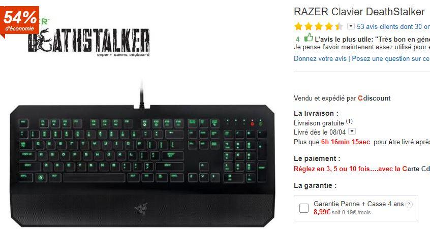 Clavier Razer DeathStalker