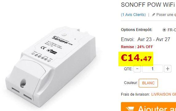Interrupteur SonOff Pow Wifi