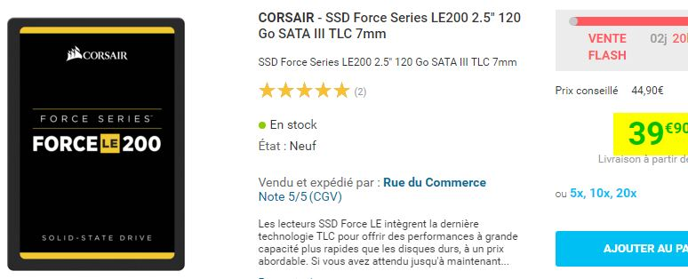 SSD Corsair Force Series LE200 120 Go SATA III