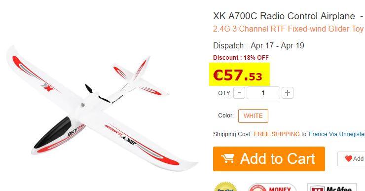 Avion modélisme XK A700C RTF