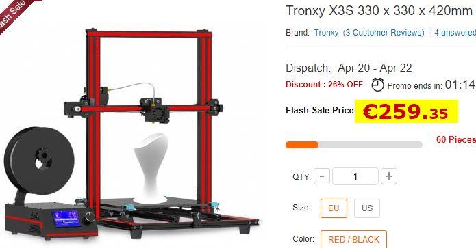 Imprimante 3D Tronxy X3S