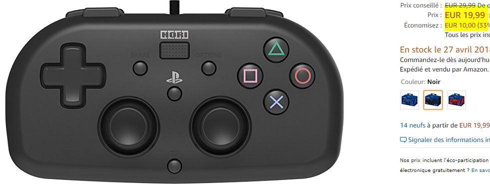 Manette compacte pour PS4 HORI