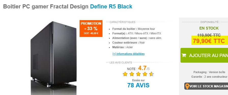 Boitier PC Fractal Design Define R5 Black