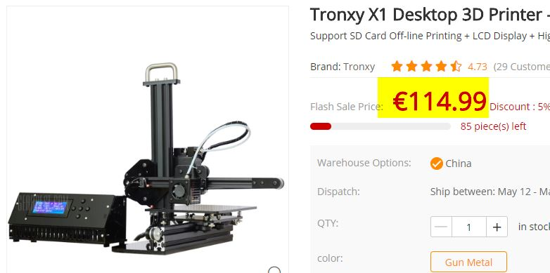 Imprimante 3D Tronxy X1
