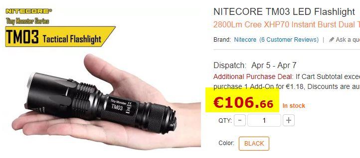 Lampe torche NITECORE TM03