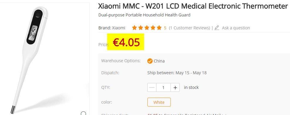 Thermomètre médical Xiaomi