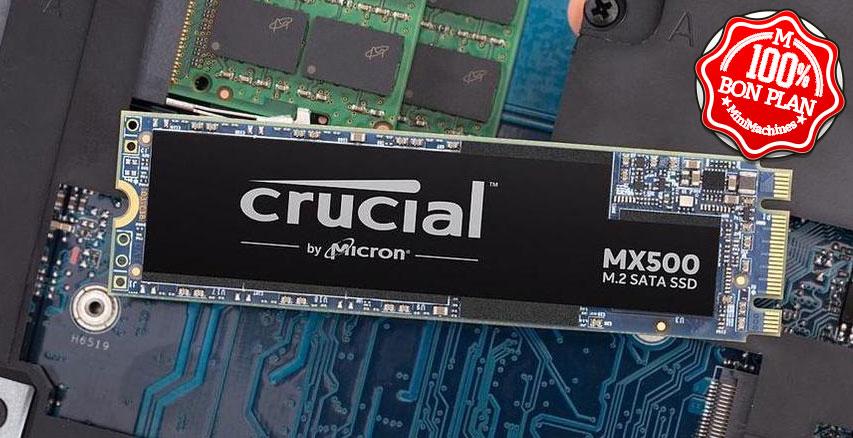 SSD M.2 2280 Crucial MX500 500 Go SATA III