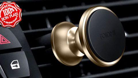 Support smartphone pour voiture Roidmi noir