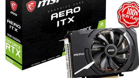 Carte graphique MSI GeForce RTX 2070 AERO ITX 8 Go + Jeu