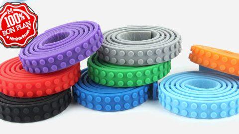 Bande de silicone format LEGO plusieurs coloris