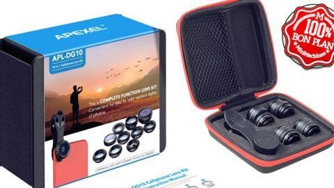 Kit lentilles photos pour smartphone APEXEL APL - DG10