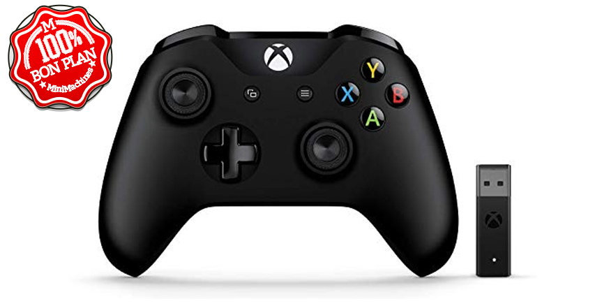 Manette Microsoft Xbox One + adaptateur sans fil Windows