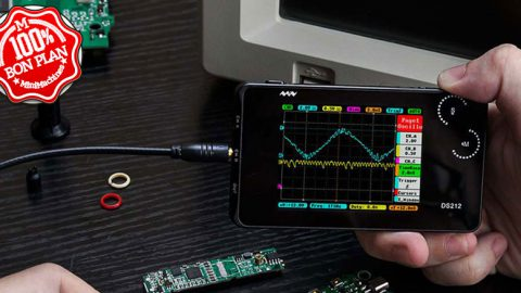 Oscilloscope de poche Mini DS212