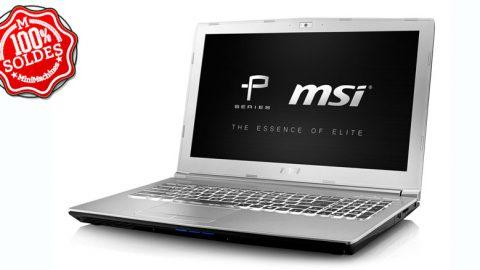 MSI Prestige PE60 7RD-484FR  15.6'' Core i7-7700HQ - 8Go - 128Go - 1To - GTX 1050