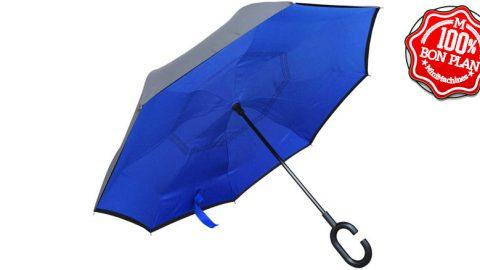 Parapluie à pliage inversé