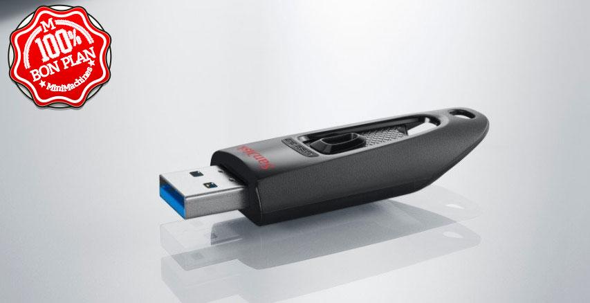 Clé USB 3.0 SanDisk Ultra 64 Go