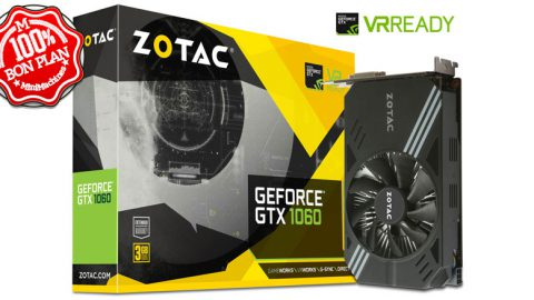 Carte graphique Zotac GeForce GTX 1060 - 3 Go