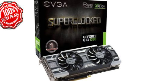 Carte graphique EVGA - GeForce GTX 1080 SC Gaming – 8 Go GDDR5X