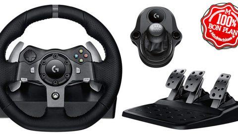 Volant jeu PC / XBox One Logitech G920 + Levier de vitesse