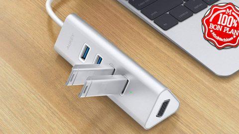 Hub USB type-C 4 x USB 3.0 + VGA Aukey