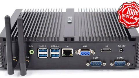 MiniPC Fanless HYSTOU FMP04 i5-7200U - 4/128Go
