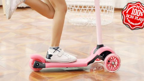Trottinette enfant Xiaomi Beva rose