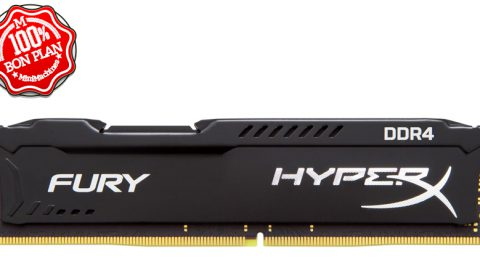 Module DIMM 8Go DDR4-2400 Kingston HyperX Fury