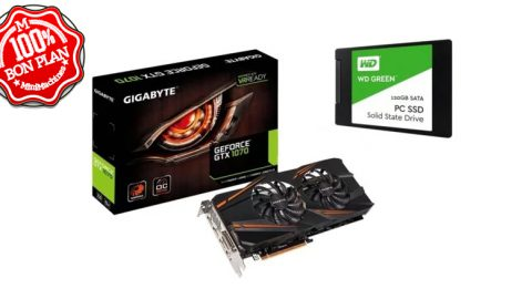 Pack Gigabyte GeForce GTX 1070 8Go + SSD WD Green 2.5