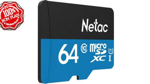 Carte MicroSDXC Netac 64 Go Class 10 UHS-1