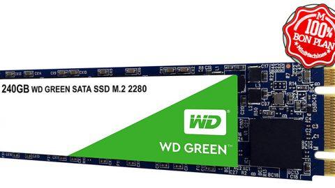 SSD Western Digital Green 240 Go M.2 2280 SATA III