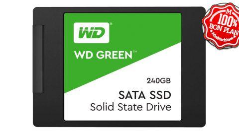 "SSD Western Digital Green 240 Go 2.5"" SATA III"