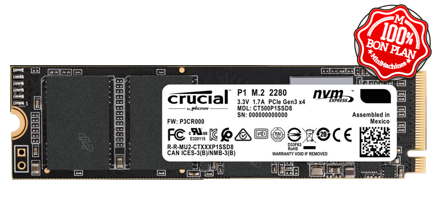 SSD M.2 Crucial P1 1 To NVMe PCIe