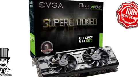 Carte graphique EVGA GeForce GTX 1070 SuperClocked GAMING ACX 3.0 8 Go + jeu