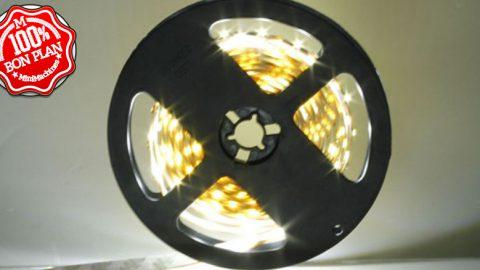 Ruban de 300 LEDs 5m 12V Blanches