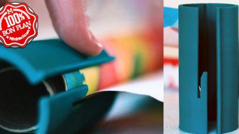 Coupe papier cadeau cylindrique