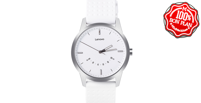 Montre analogique Bluetooth Lenovo Watch 9 Blanche