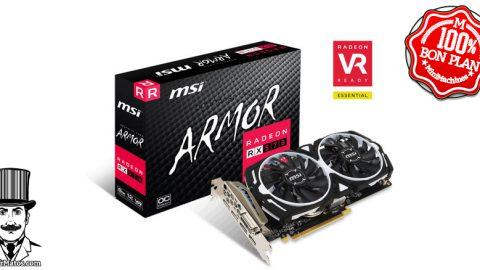 MSI Radeon RX 570 ARMOR 8G OC + 2 jeux