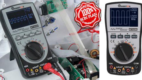 Mustool MT8206 : Oscilloscope et multimètre de poche