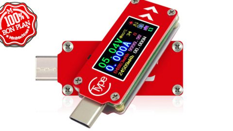 Testeur d'alimentation USB Type-C RUIDENG TC64