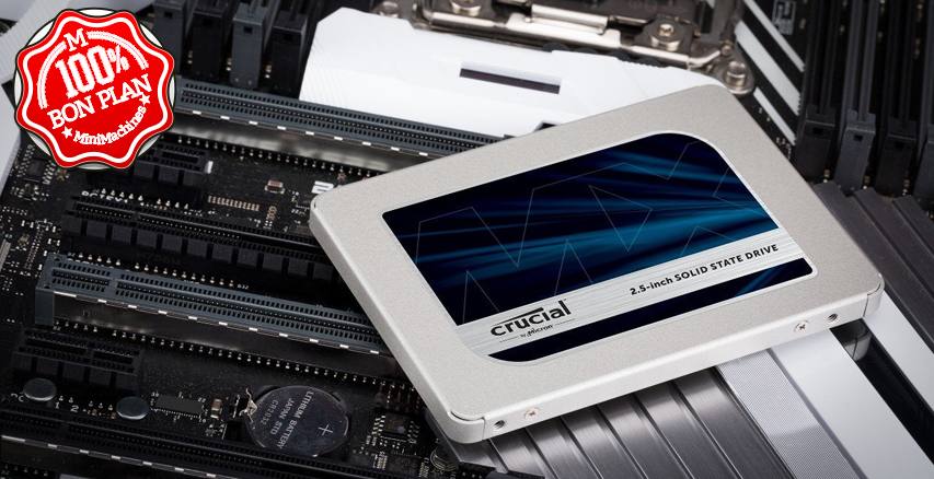 SSD 2.5 pouces Crucial MX500 1 To SATA III