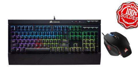 Pack clavier mécanique et souris Corsair