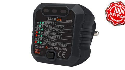Testeur de prise de courant Tacklife EST02