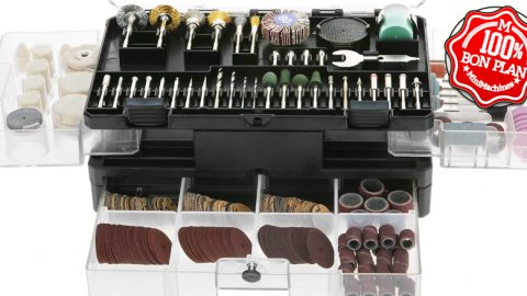 Coffret d'accessoires rotatif Mertek 349 pieces