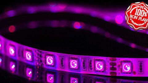 Guirlande 30 LED RVB  étanche avec support Amazon Alexa