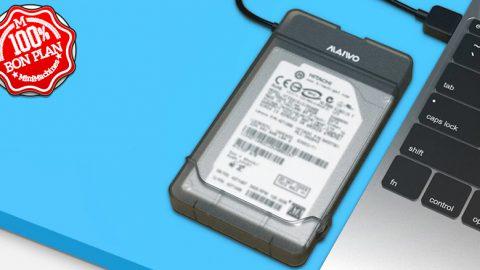 Boitier USB 3.0 pour stockage SATA III 2.5