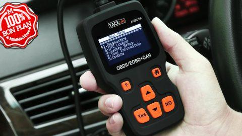 Diagnostic Auto OBD2 Tacklife avec écran LCD